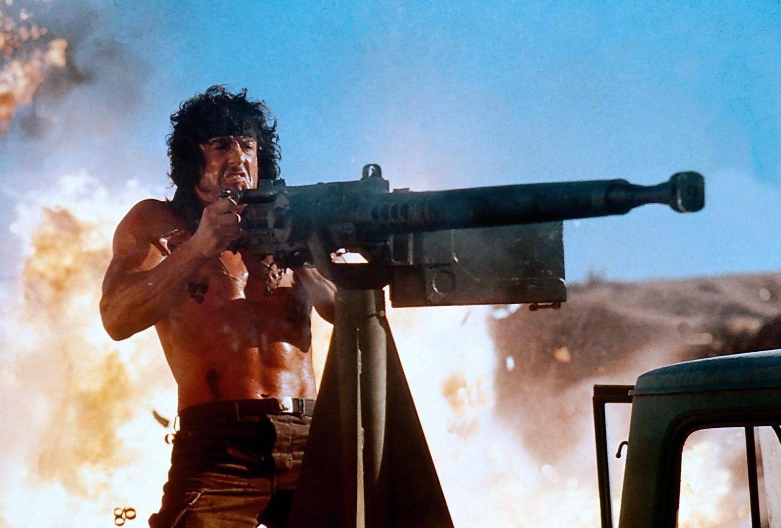 EINMALIGE VERWENDUNG Actionfilm One-Liner - Rambo III / Rambo III