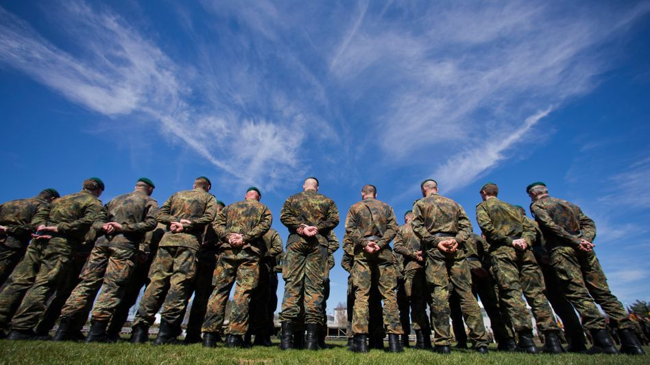 """Soldiers at a base in Germany: """"Many Germans still have sympathy for the idea that Germany can exist as something like a large Switzerland in the middle of Europe."""""""
