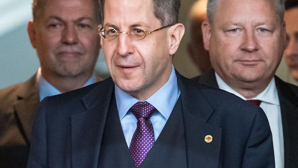 MAD-Chef Christof Gramm, Verfassungsschutz-Präsident Hans-Georg Maaßen, BND-Boss Bruno Kahl