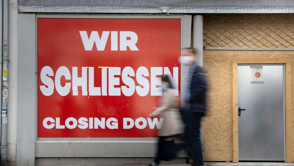 Geschlossener Laden in Bonn