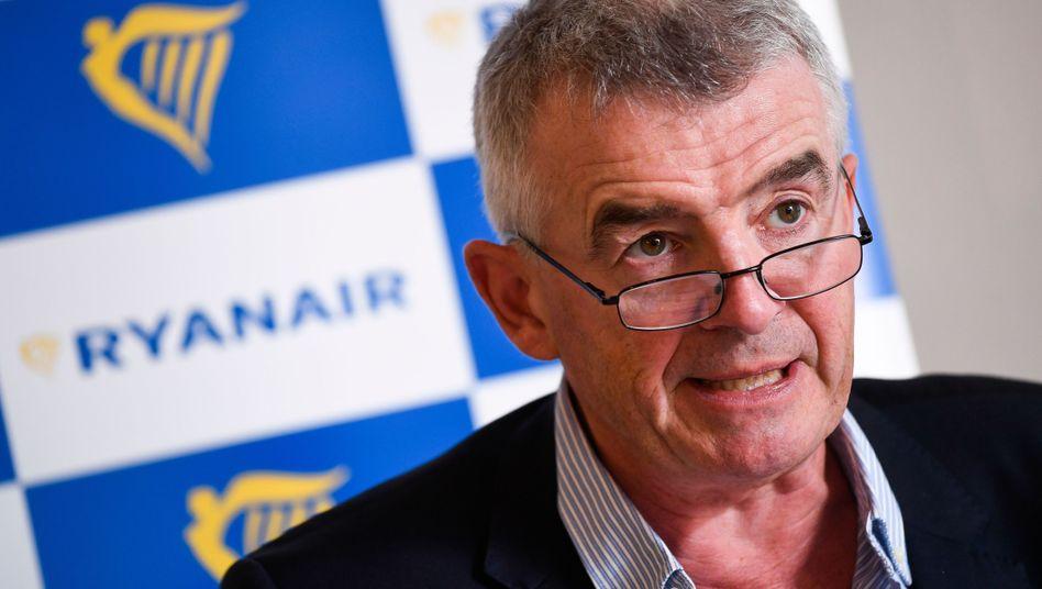 Ryanair-Chef O'Leary: Regierung soll für feie Sitze zahlen