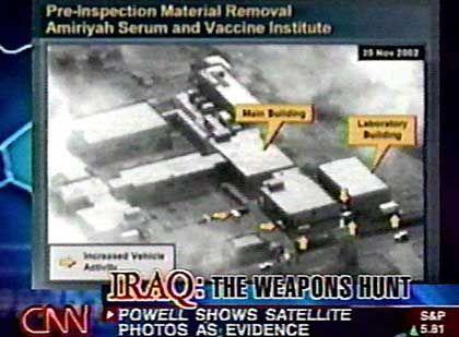 Abgebliche Giftgasfabrik im Irak - bislang blieb die US-Regierung jedoch Beweise schuldig