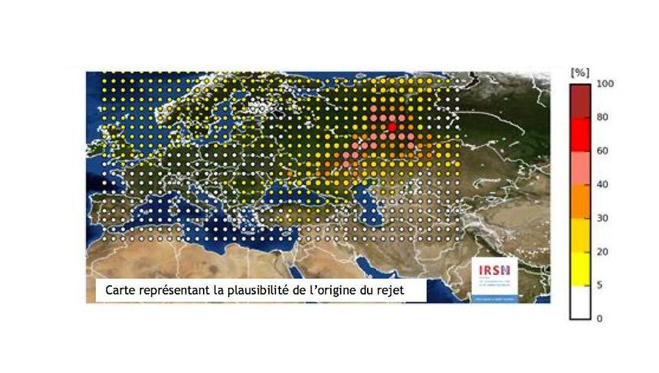 Modellierung der Quelle für die radioaktive Wolke über Europa