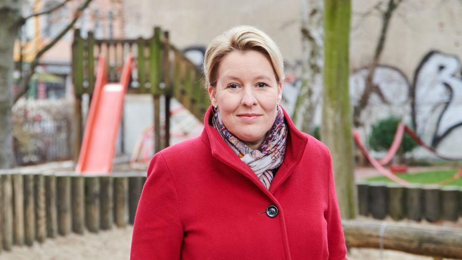 Franziska Giffey im März in Berlin