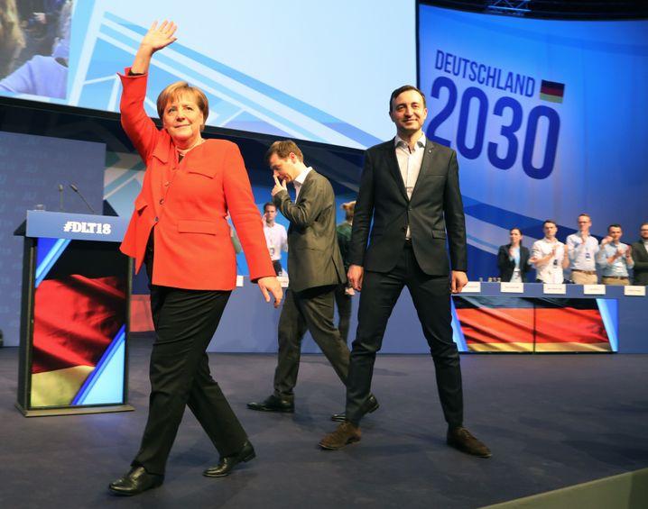 Merkel, JU-Chef Paul Ziemiak