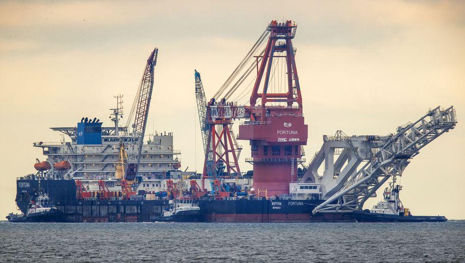 Verlegeschiff »Fortuna« in Wismar: Hafen inzwischen verlassen
