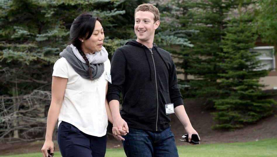 Internet- und angehende Schulunternehmer: Priscilla Chan und Mark Zuckerberg