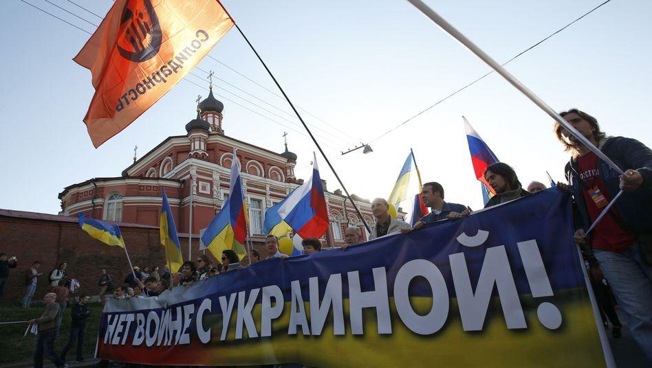 Demonstranten in Moskau: Maximal 50.000 Teilnehmer zugelassen