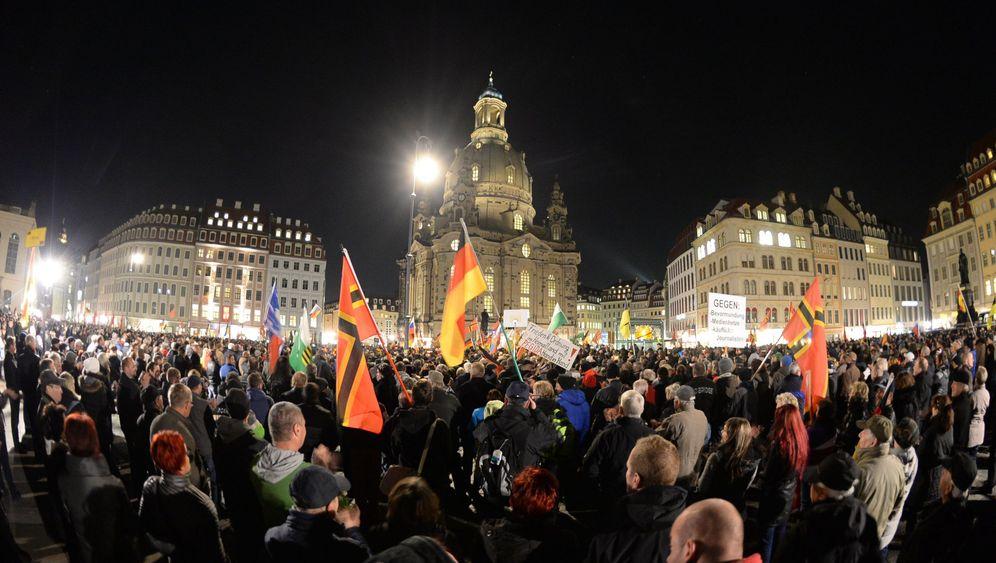 Pegida-Demonstration: Nazi-Vergleiche in Dresden
