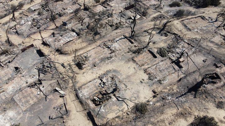 Brände in Morias Flüchtlingslager