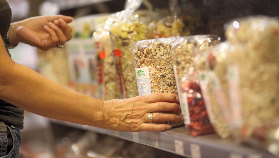 Müsli im Reformhausregal: Ballaststoffe fördern die Darmflora und damit auch die Verdauung