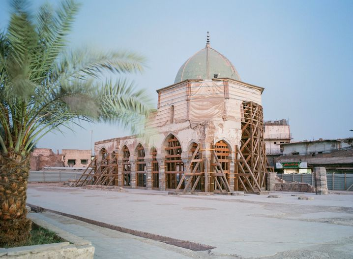Die berühmte Nuri-Moschee ist das Wahrzeichen der Altstadt von Mossul – sie wurde im Krieg fast vollständig zerstört