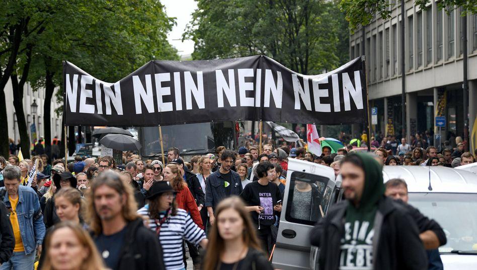 #ausgehetzt-Demonstration (im Juli in München)