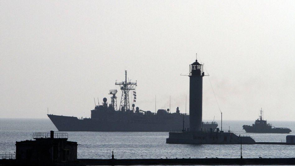 US-Kriegsschiff im Schwarzen Meer (Archivbild): Umstritte Übung begonnen