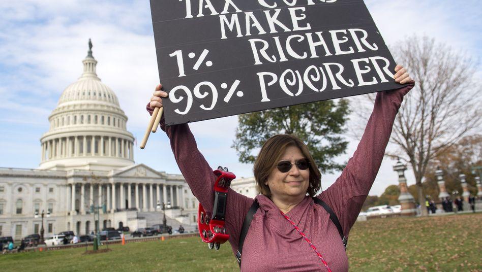 Protest gegen US-Steuerreform
