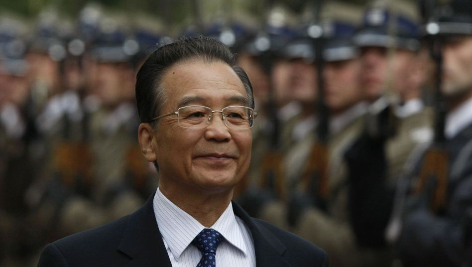 Getting a foothold in European markets: China's Premier Wen Jiabao is pictured here during his visit to Warsaw in April.