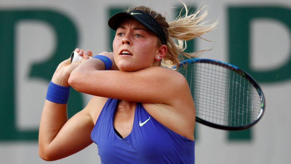 Carina Witthöft vor zwei Jahren bei den French Open