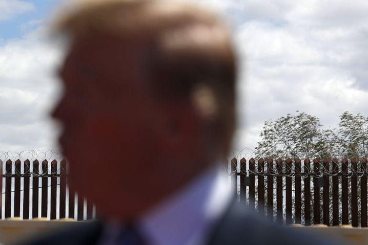 Donald Trump an der US-Grenze zu Mexiko