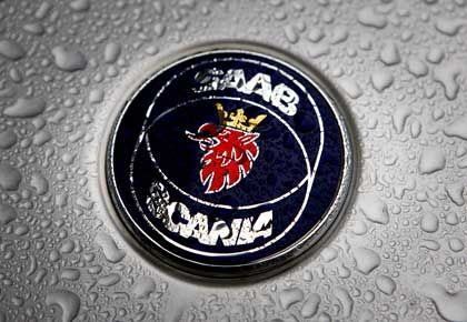 Saab-Logo: Am Freitag Insolvenz angemeldet