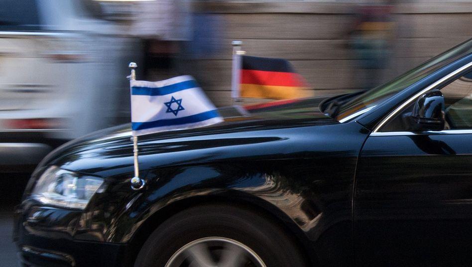German Foreign Minister Sigmar Gabriel's sedan in Jerusalem