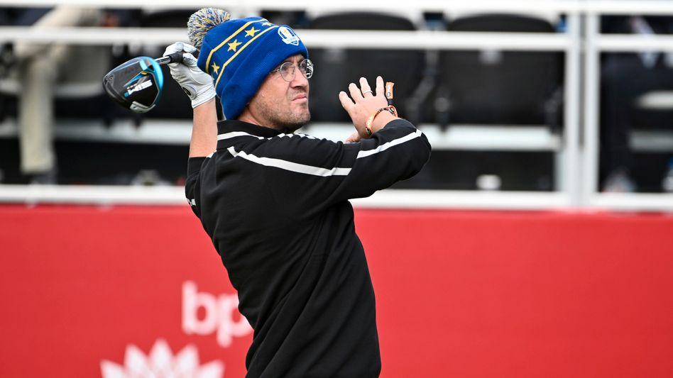 Tom Felton beim Golfen
