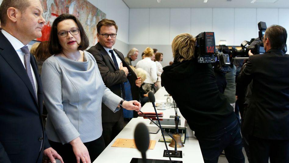 Olaf Scholz, Andrea Nahles, Carsten Schneider