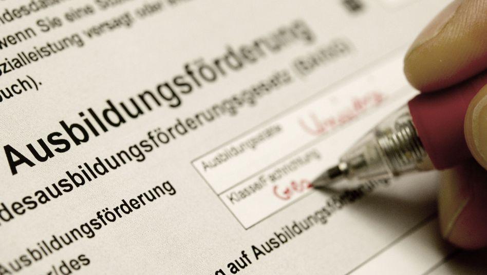 Bafög-Antrag: Rund 650.000 Studenten bezogen 2011 Ausbildungsstütze