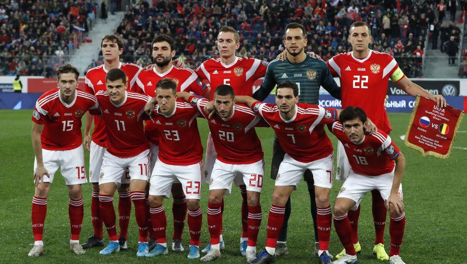 Die russische Nationalmannschaft in der Qualifikation zur EM 2020