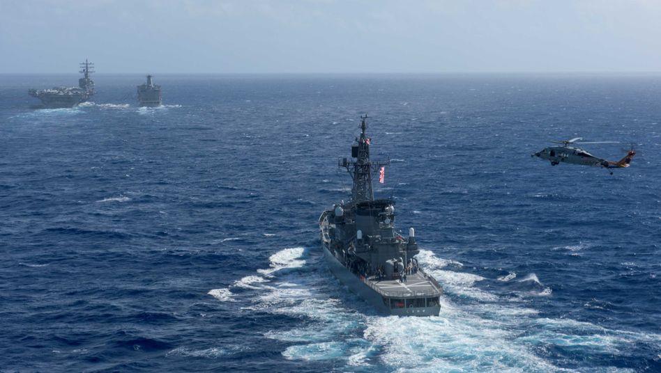Japanisches Kriegsschiff (Archivbild)