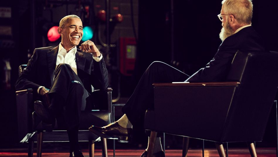 Barack Obama in der Netflix-Talkshow von David Letterman