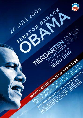 """Obama-Plakat für Berlin-Auftritt: """"Geschenk für die Stadt"""""""