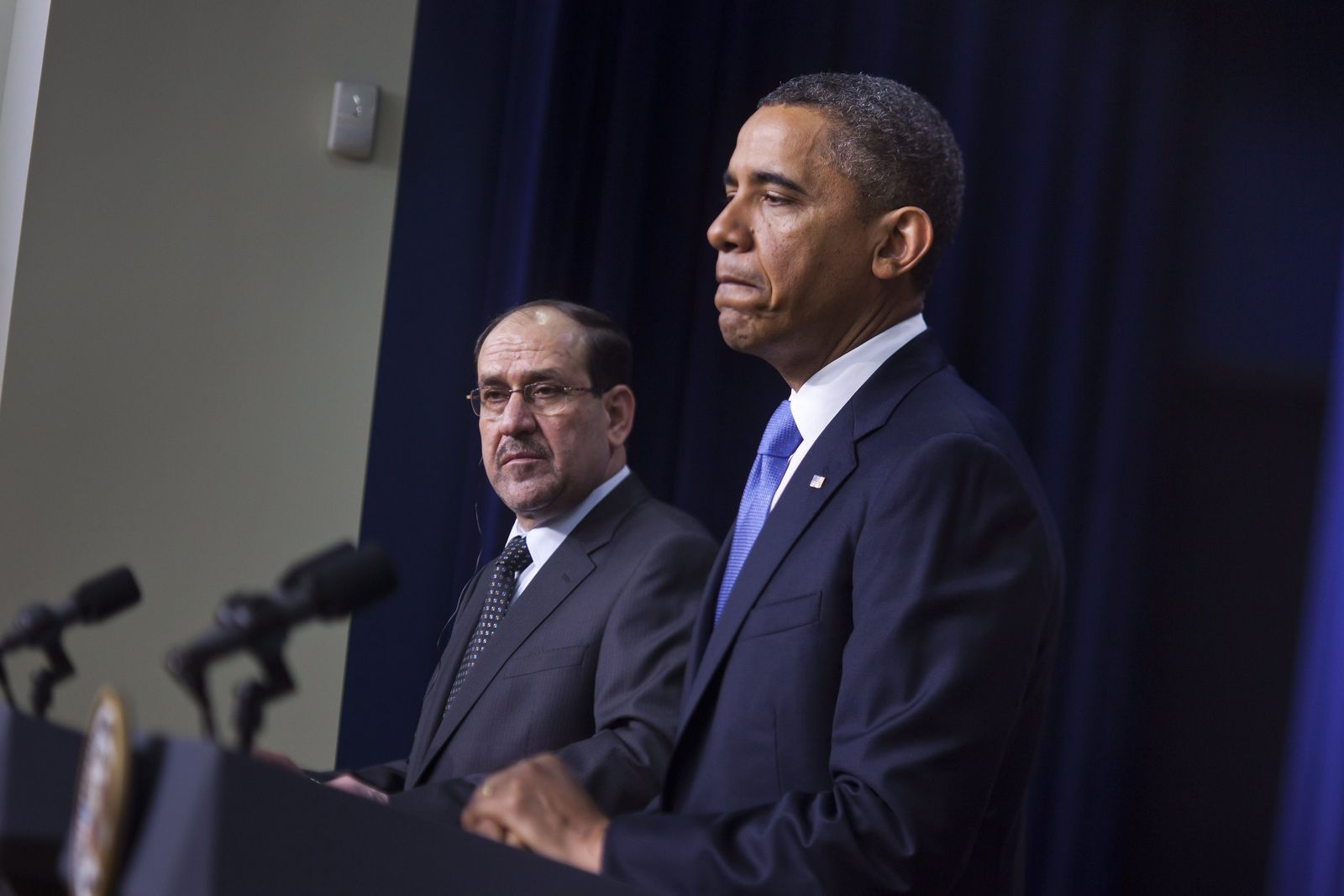 President Obama Holds Press Conference With al-Maliki in Washingt