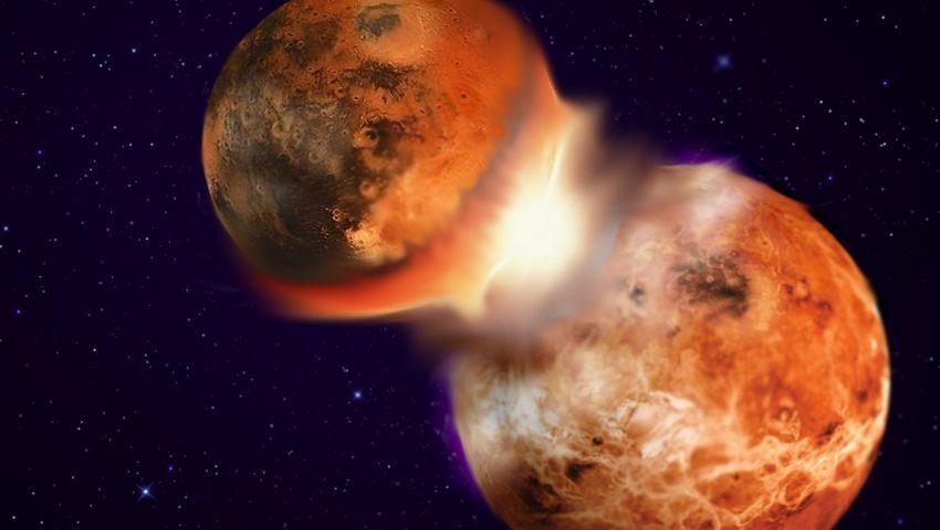 Planetencrash (Zeichnung): Als die Erde mit Theia kollidierte