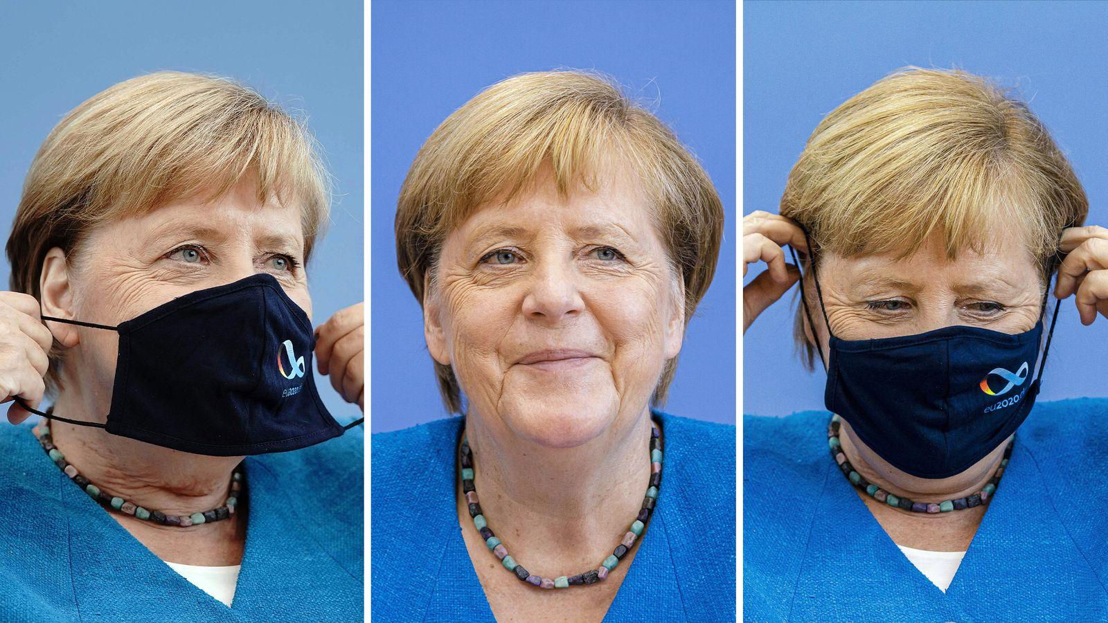 KOMBO Angela Merkel / Mundschutz