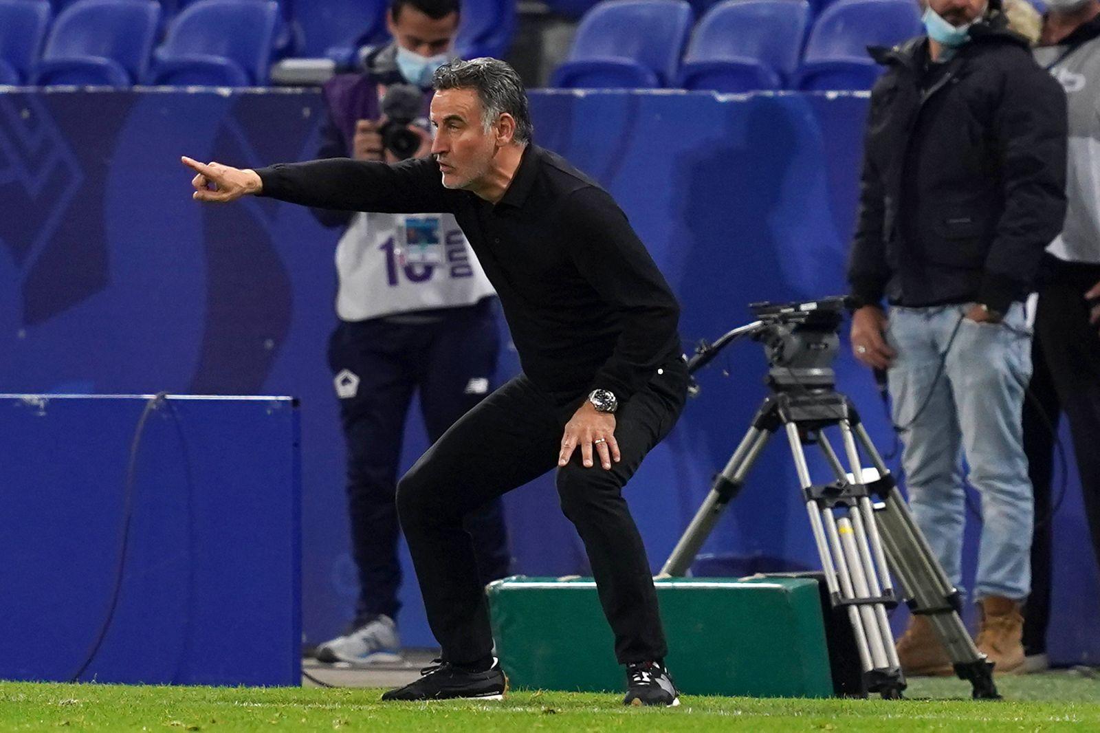 CHRISTOPHE GALTIER, OSC Lille, Ligue 1, Olympique Lyonnais vs OSC Lille 2-3, Lyon LIGUE 1 2020-21 OLYMPIQUE LYONNAIS LIO