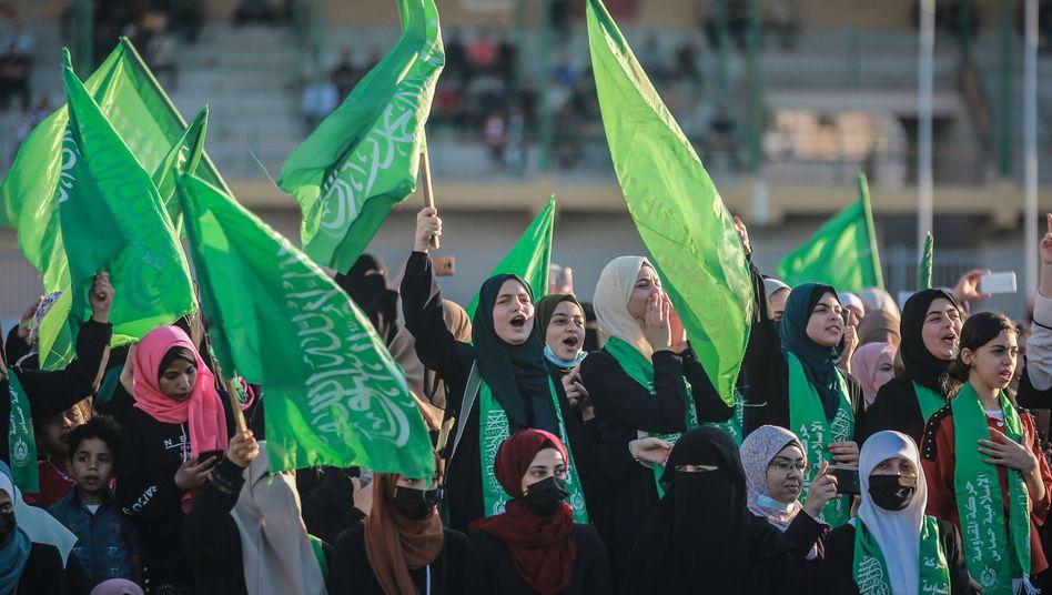 Hamas-Flaggen in Gaza-Stadt (Archivbild)