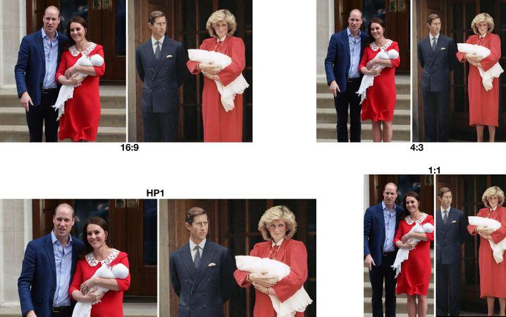 Heute und damals: Royale Babys mit ihren Eltern