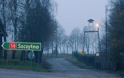 Ein Wachturm nahe der polnischen Spionageschule bei Szczytno: Geheimes Gefängnis der CIA?