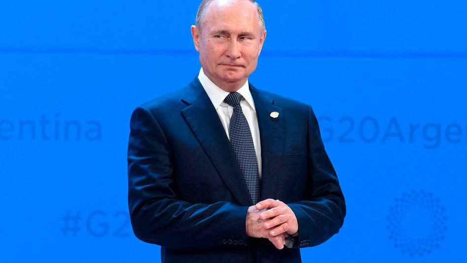 Wladimir Putin auf dem G20-Gipfel in Argentinien