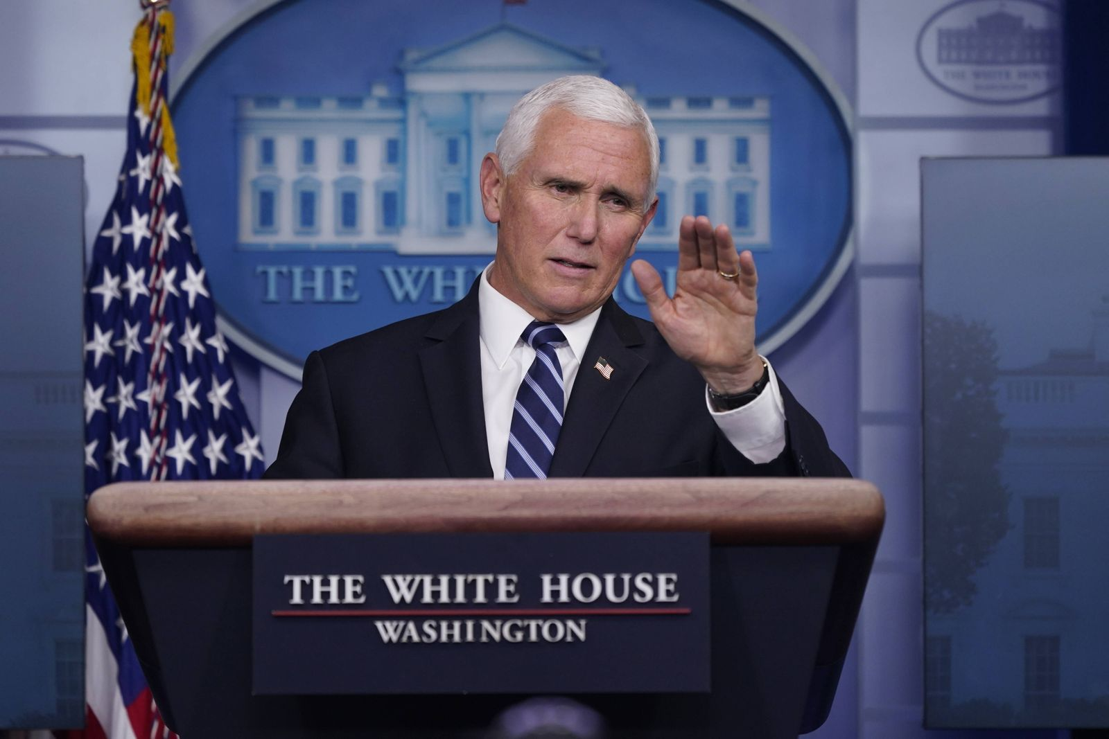 November 19, 2020, Washington, District of Columbia, USA: United States Vice President Mike Pence participates in a bri