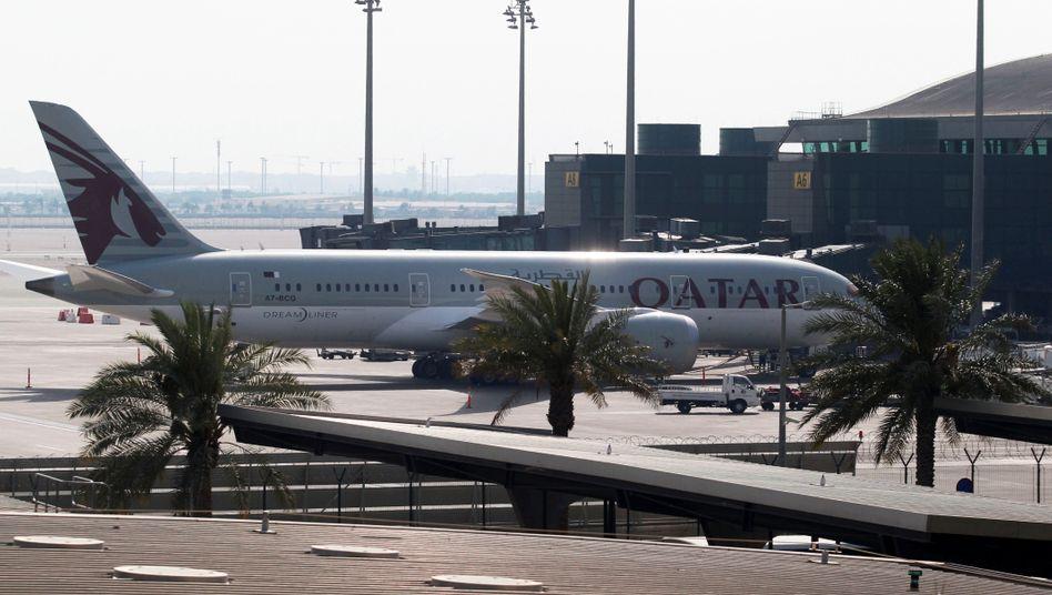 Qatar-Airways-Maschine in Doha (Archivbild)