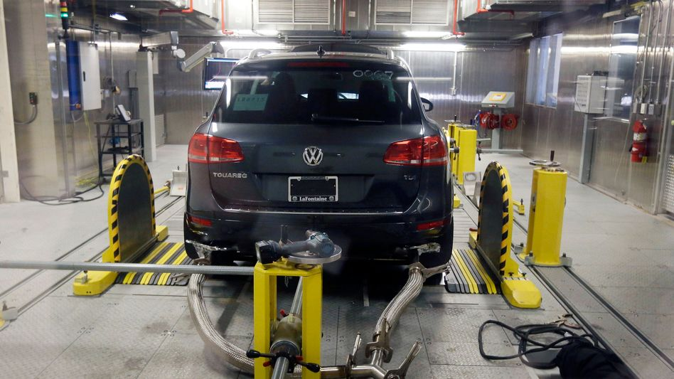 VW-Touareg beim Abgastest im US-Staat Michigan: Im Visier der Behörden
