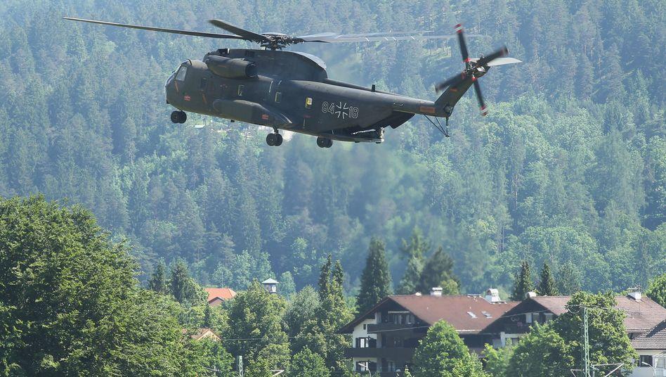 Bundeswehr-Hubschrauber: Einsatz in den Alpen