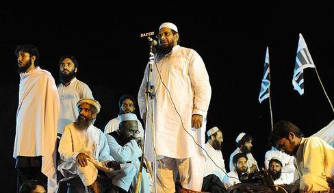 "Lashkar-e-Taiba founder Hafiz Muhammad Saeed in Islamabad: ""Very high on the list of suspects."""