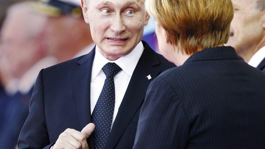 Widersacher Putin, Merkel