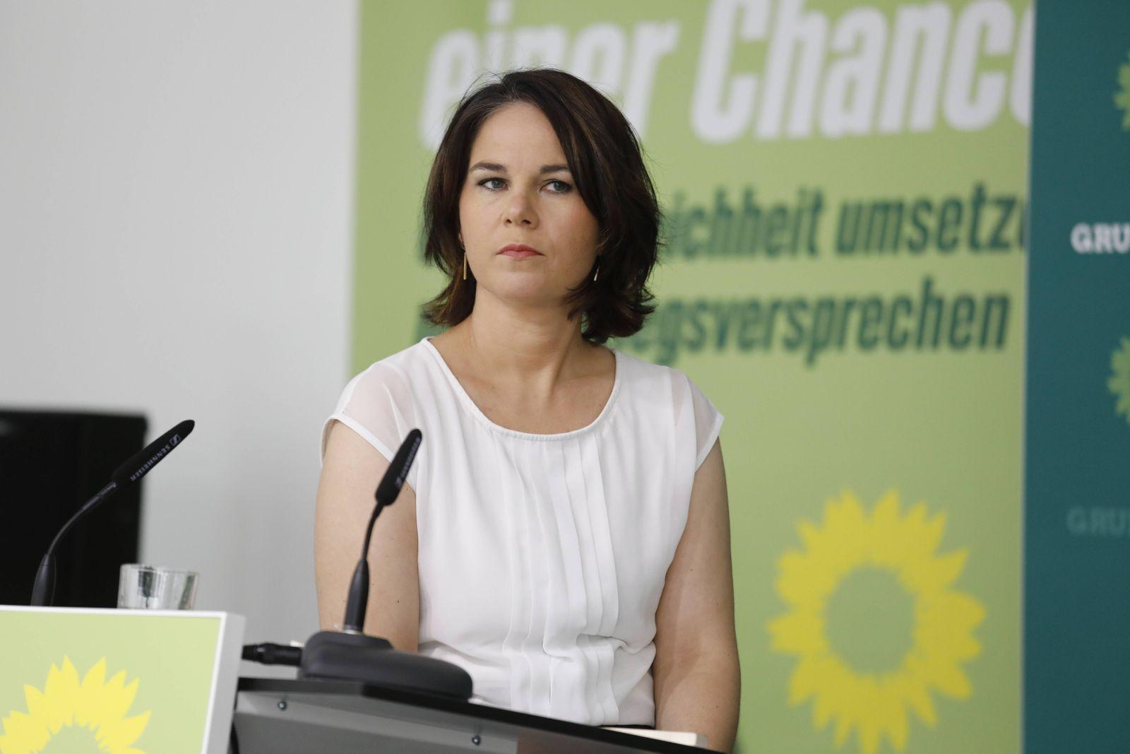 Annalena Baerbock, Kanzlerkandidatin und Bundesvorsitzende von BÜNDNIS 90/DIE GRÜNEN, Deutschland, Berlin, digitale Pres