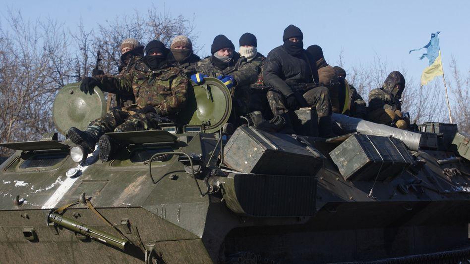 Ukrainische Kämpfer: Rückzug aus umkämpfter Stadt