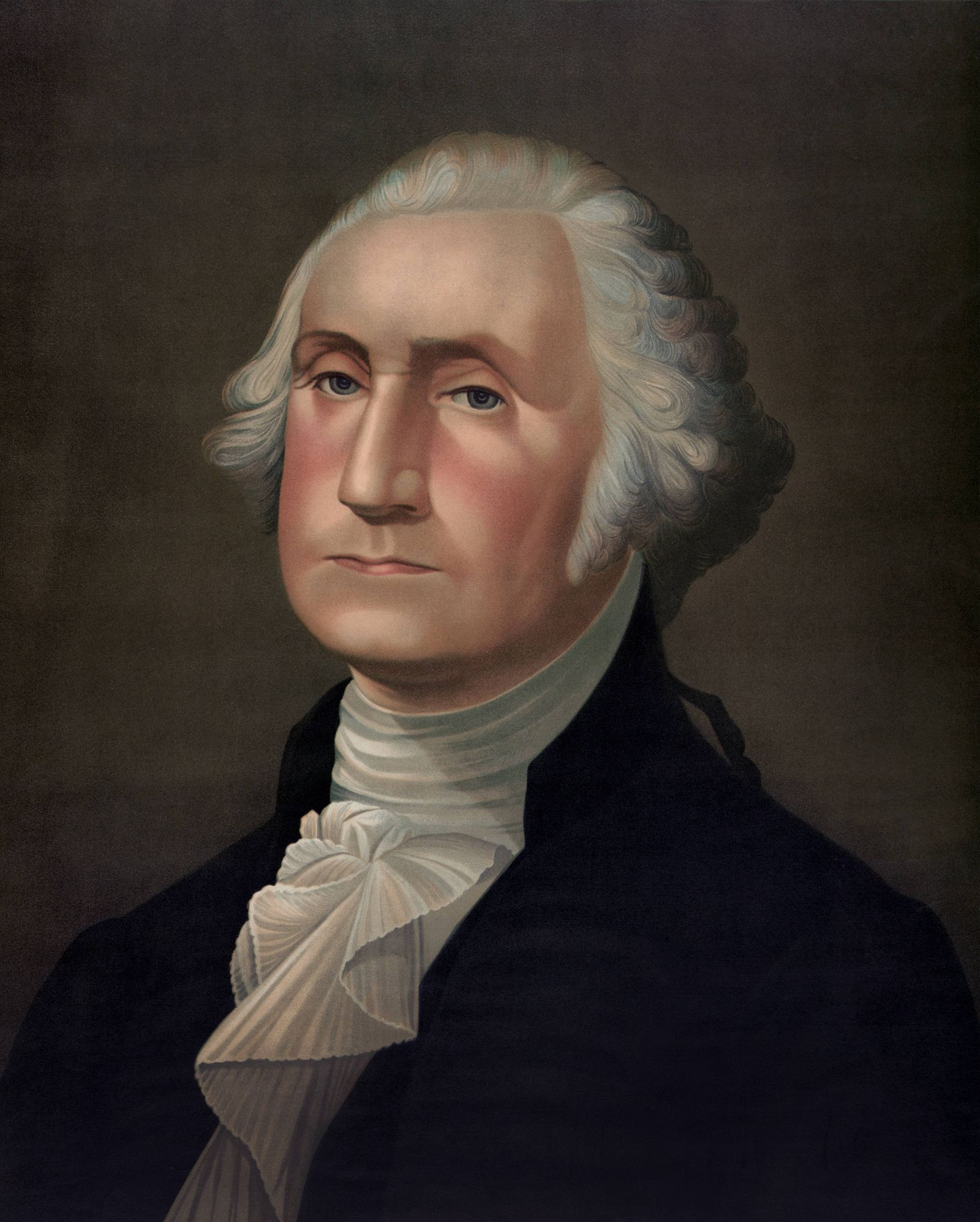 George Washington (1732-99), First President of the United States, Head and Shoulders Portrait, J. Hoover & Son, 1896 P