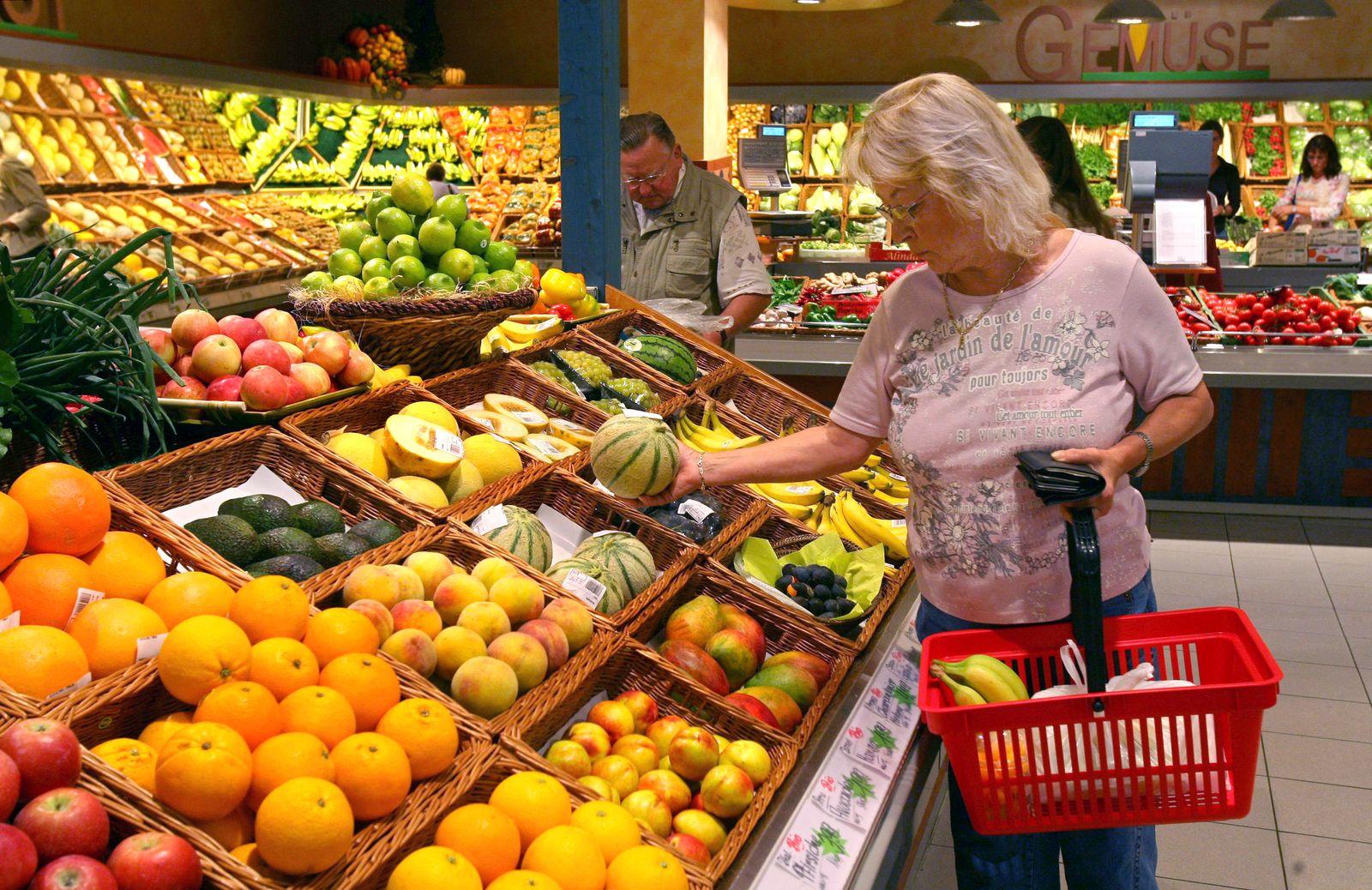 Supermarkt/ Obst/ Gemüse