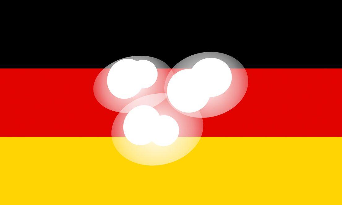 EINMALIGE VERWENDUNG Funkloch/ Deutschlandflagge